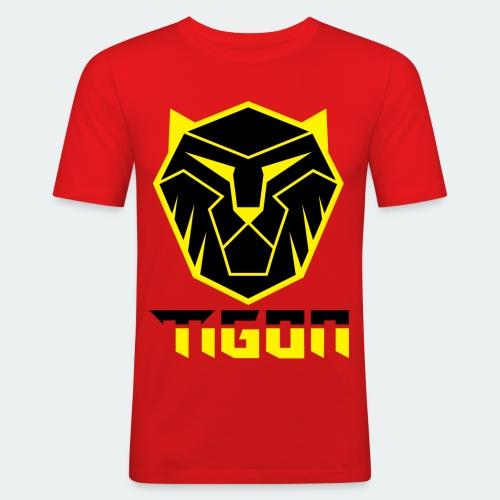 Tigon - Black and Yellow - Men's Slim Fit T-Shirt