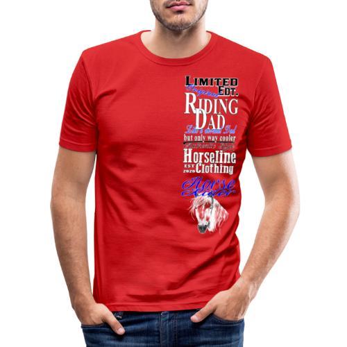 Limited Edition Riding Dad Pferd Reiten - Männer Slim Fit T-Shirt