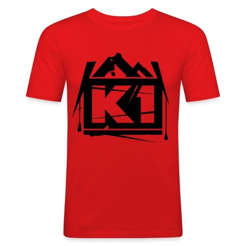 k1 - Mannen slim fit T-shirt
