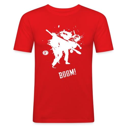 bkc boom on black - Men's Slim Fit T-Shirt