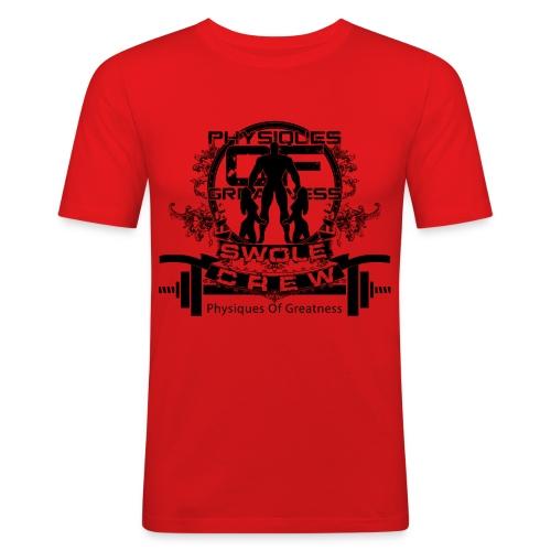 swole crew front - Men's Slim Fit T-Shirt