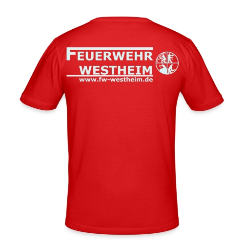 fww logo spreadshirt 28 - Männer Slim Fit T-Shirt