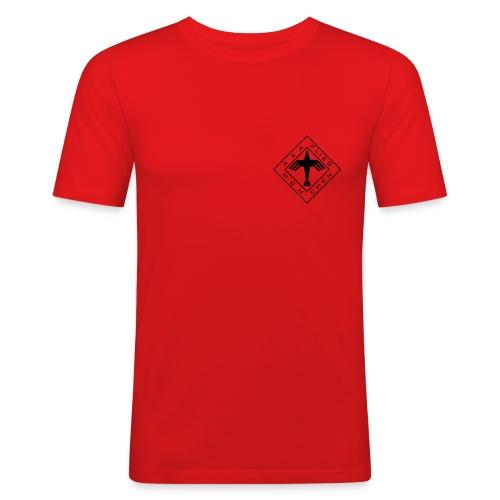 logo neu sw - Männer Slim Fit T-Shirt
