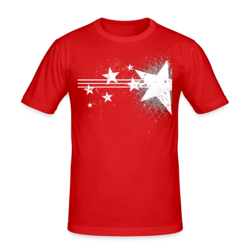 starswhite png - Mannen slim fit T-shirt