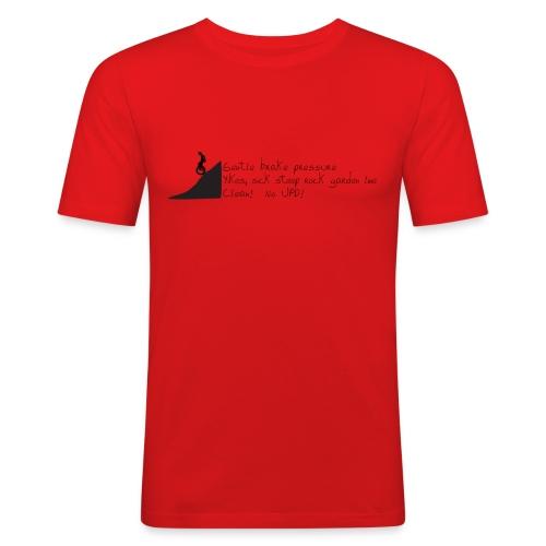 Unicycle Haiku - Men's Slim Fit T-Shirt