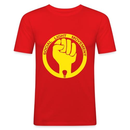 social light movement yellow hand - Men's Slim Fit T-Shirt