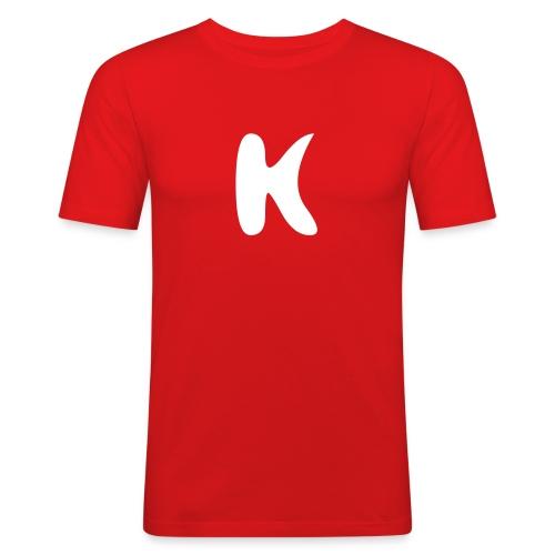 Logo hinten - Männer Slim Fit T-Shirt