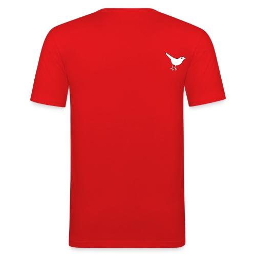 peace peace dove bird 49 black white lin - slim fit T-shirt