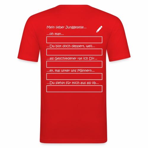 Junggesellenabschied Interaktionsspiel Junggeselle - Männer Slim Fit T-Shirt