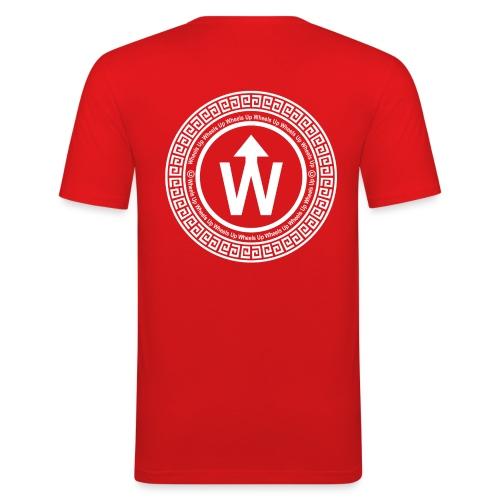 wit logo transparante achtergrond - Mannen slim fit T-shirt