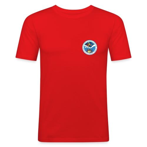 scubadivers know why dolphins smile - Men's Slim Fit T-Shirt