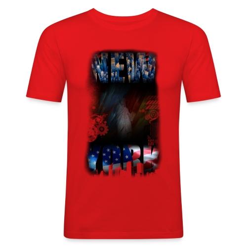 New York Skyline - Männer Slim Fit T-Shirt