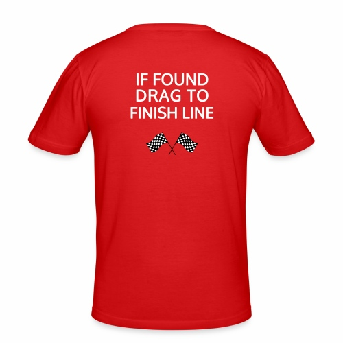 If found, drag to finish line - hardloopshirt - Mannen slim fit T-shirt