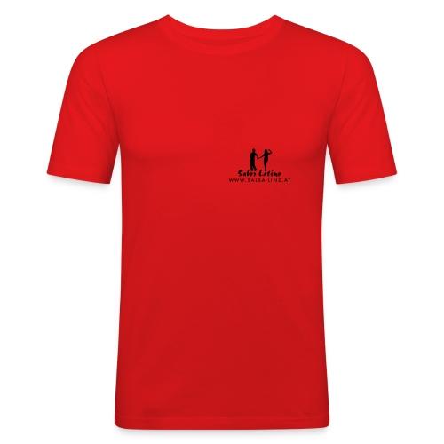 sabor latino tshirt vorne kurven10 - Männer Slim Fit T-Shirt