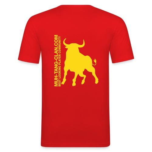muhstierlogo - Männer Slim Fit T-Shirt