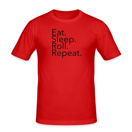 EatSleepRollRepeat_Ave - Men's Slim Fit T-Shirt