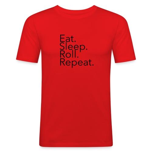 EatSleepRollRepeat_Ave - Men's Slim Fit T-Shirt