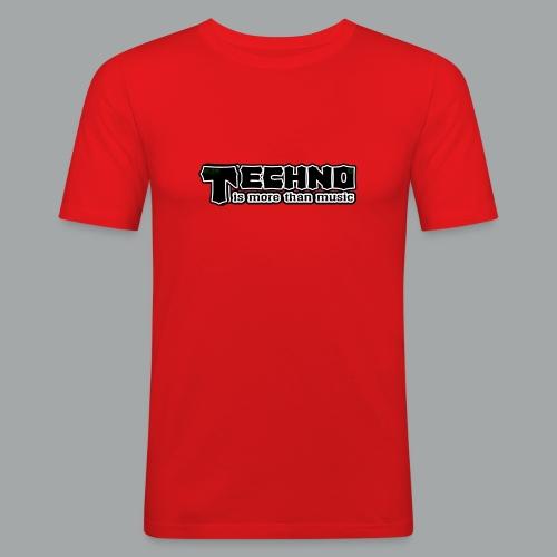 T-shirt rücken einfach - Männer Slim Fit T-Shirt