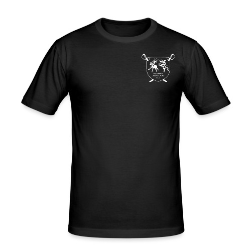 logo miekat vektorig - Miesten tyköistuva t-paita