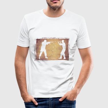 ?Humanity? - Obcisła koszulka męska