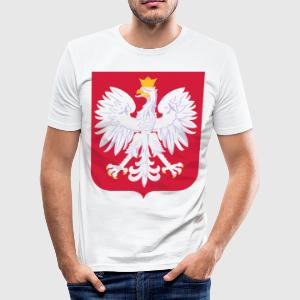 I LOVE POLAND COLLECTION - Männer Slim Fit T-Shirt