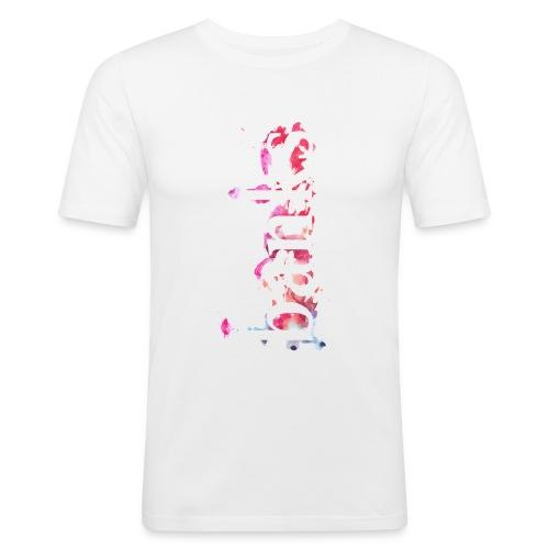 Aquarell Coachella Line - Männer Slim Fit T-Shirt