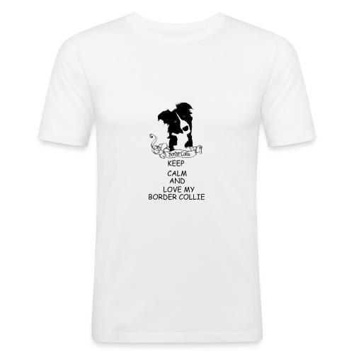 border_collie - Slim Fit T-shirt herr