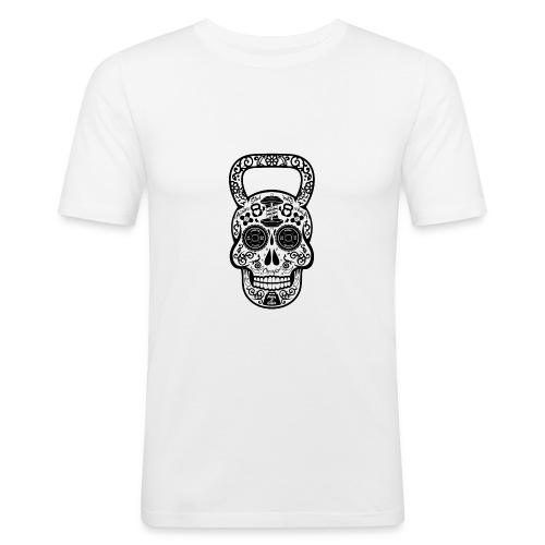 KettlebellSkull FItness skull Barbell Kettlebell - Männer Slim Fit T-Shirt