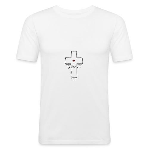 survive - Miesten tyköistuva t-paita