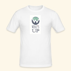 Logo Whats up - Tee shirt près du corps Homme