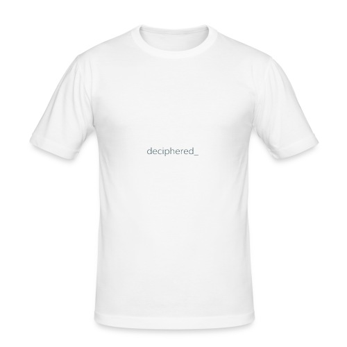 Deciphered_ Logo - Men's Slim Fit T-Shirt
