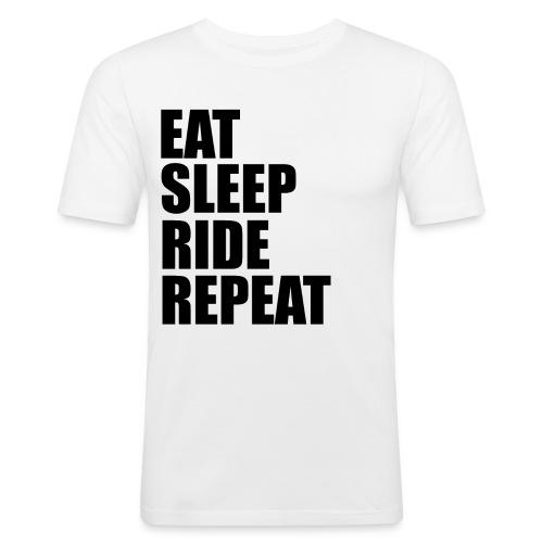 Eat sleep ride repeat - Maglietta aderente da uomo