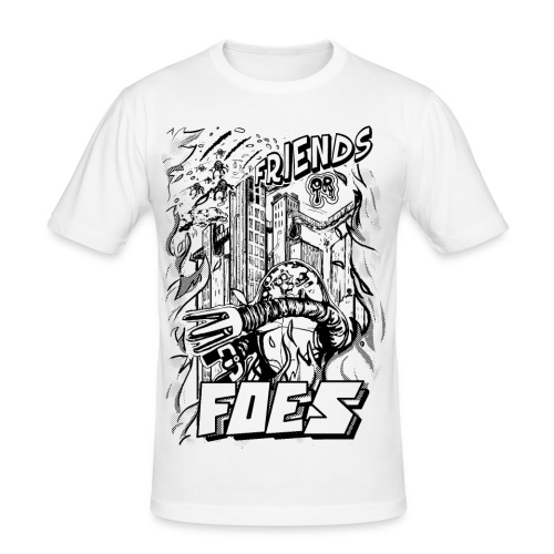 FRIENDS or FOES - Maglietta aderente da uomo