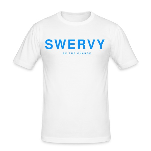 SWERVY BE THE CHANGE - BLUE - Men's Slim Fit T-Shirt