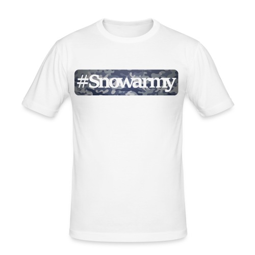 Snowarmy camo/white - Männer Slim Fit T-Shirt