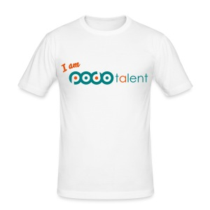 I AM PODOTALENT collectie T-Shirt White/Neongroen - slim fit T-shirt