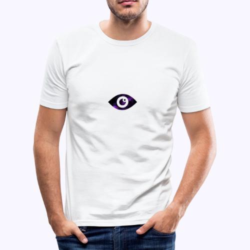 Occhio del destino viola - Maglietta aderente da uomo