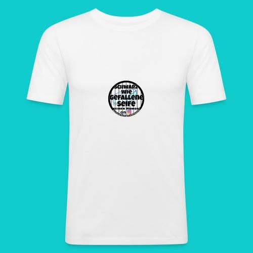 SchwarzwiegefalleneSeife - Männer Slim Fit T-Shirt