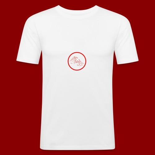 Logo Rond / Rouge - T-shirt près du corps Homme