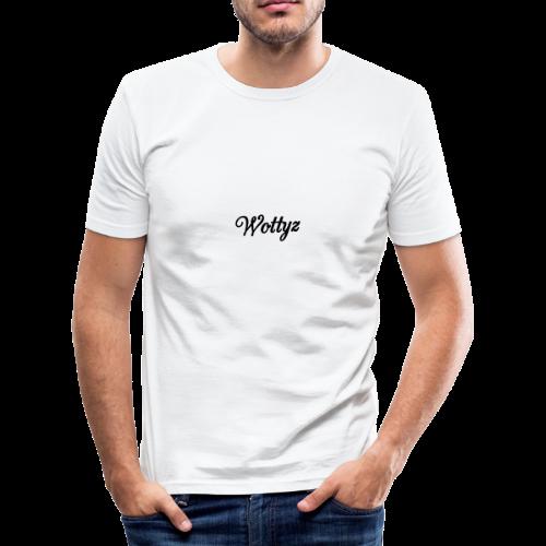 Wottyz Black Edition - Men's Slim Fit T-Shirt