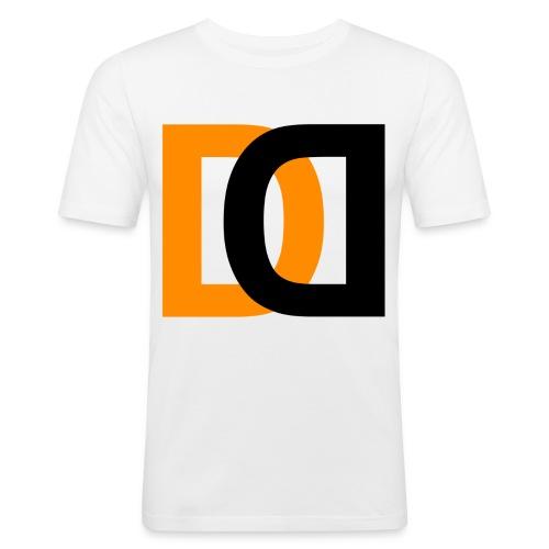 Dutch Driveclub logo oranje zwart transparante ach - slim fit T-shirt