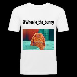 Wheelie the bunny - Maglietta aderente da uomo
