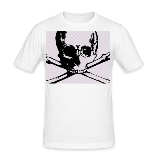 skull and crossbones - Men's Slim Fit T-Shirt