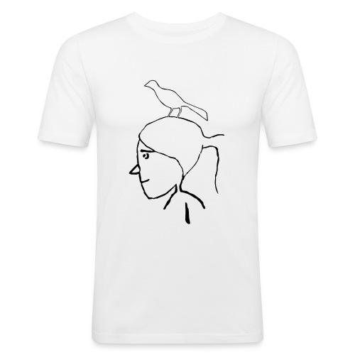 pajaro en cabeza - Camiseta ajustada hombre