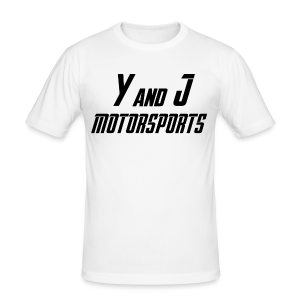 Y and J Motorsports Logo - Männer Slim Fit T-Shirt