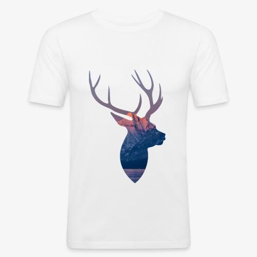Hirsch T-Shirt - Männer Slim Fit T-Shirt