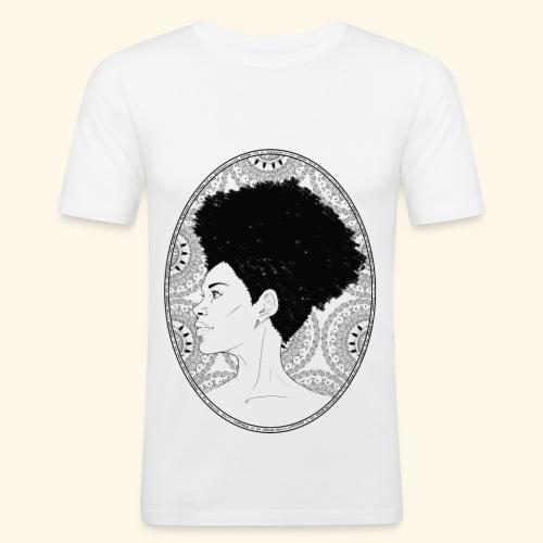 afro-mandala - Maglietta aderente da uomo