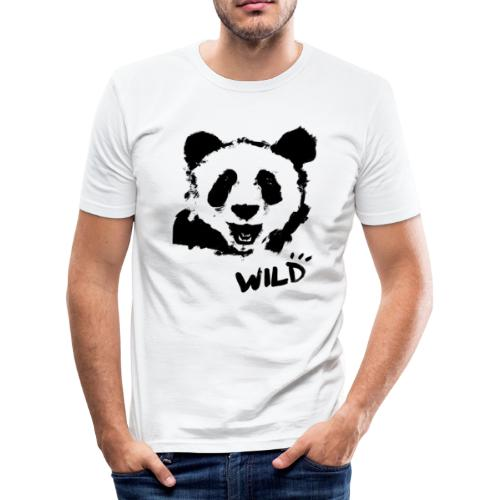 WILD PANDA - Männer Slim Fit T-Shirt