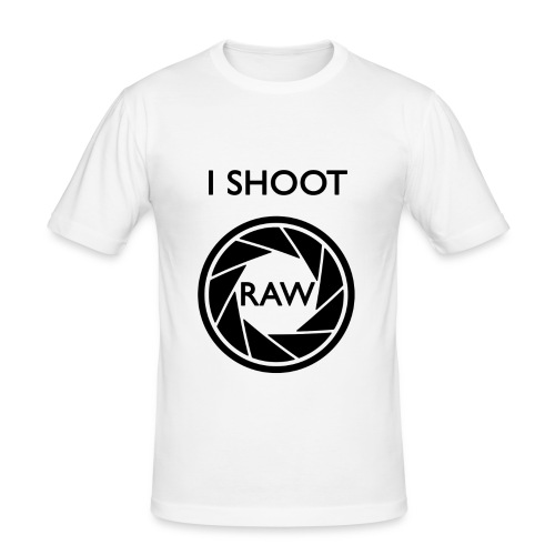I SHOOT RAW Clothing - Männer Slim Fit T-Shirt