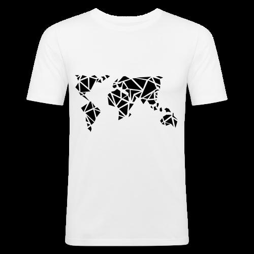World - T-shirt près du corps Homme